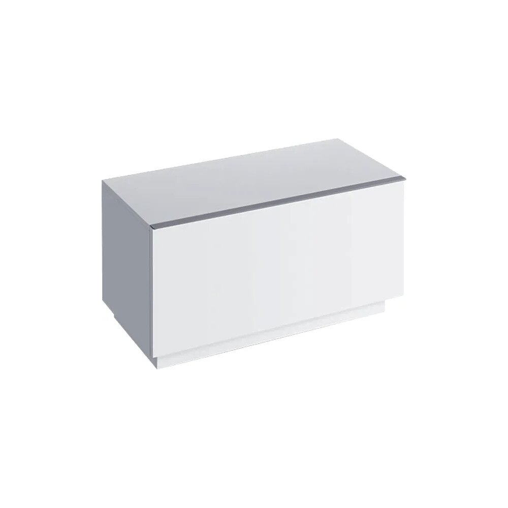 Dulap baie pe pardoseala alb lucios Geberit Icon 1 sertar 89 cm neakaisa.ro