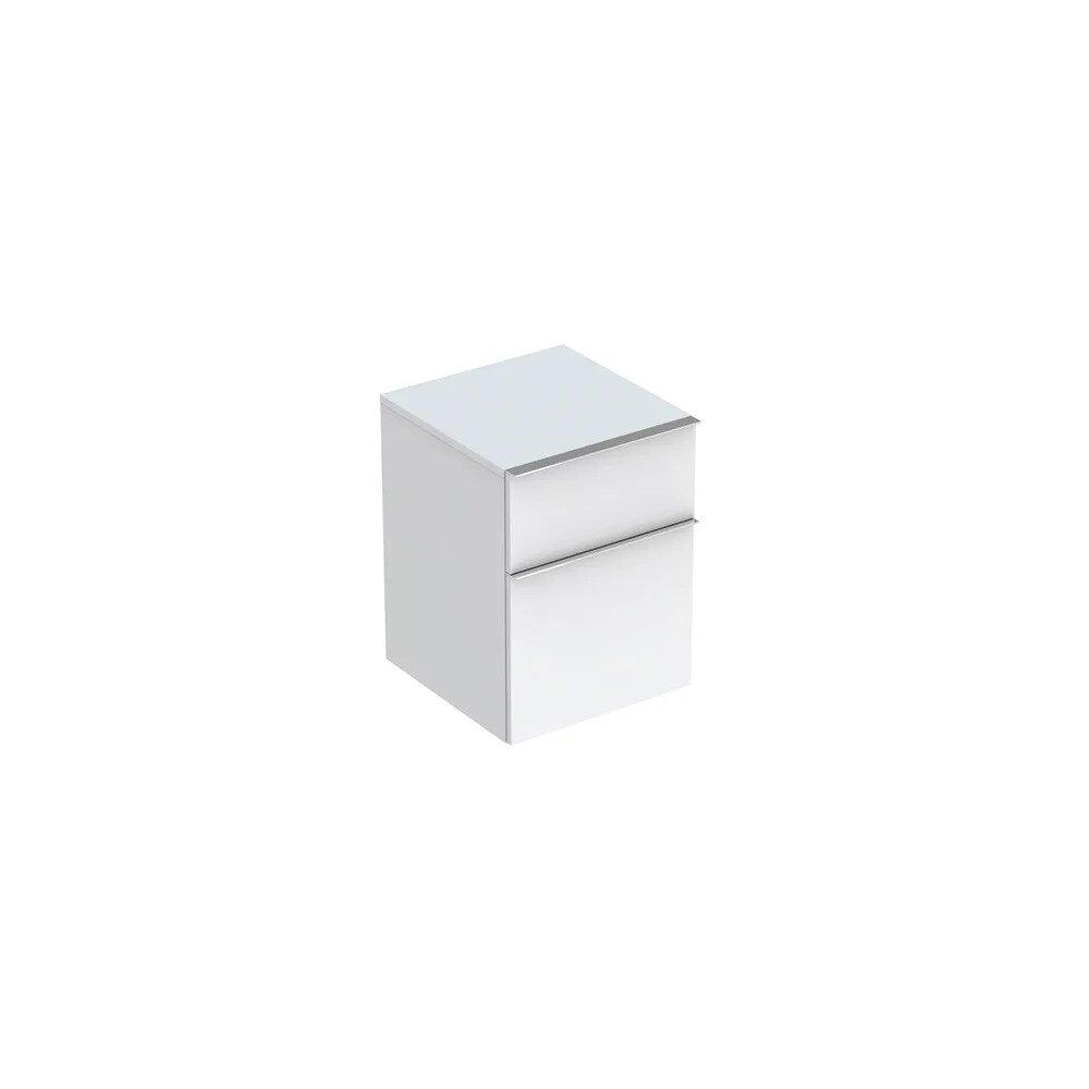 Dulap baie suspendat alb mat Geberit Icon 2 sertare 45 cm imagine neakaisa.ro