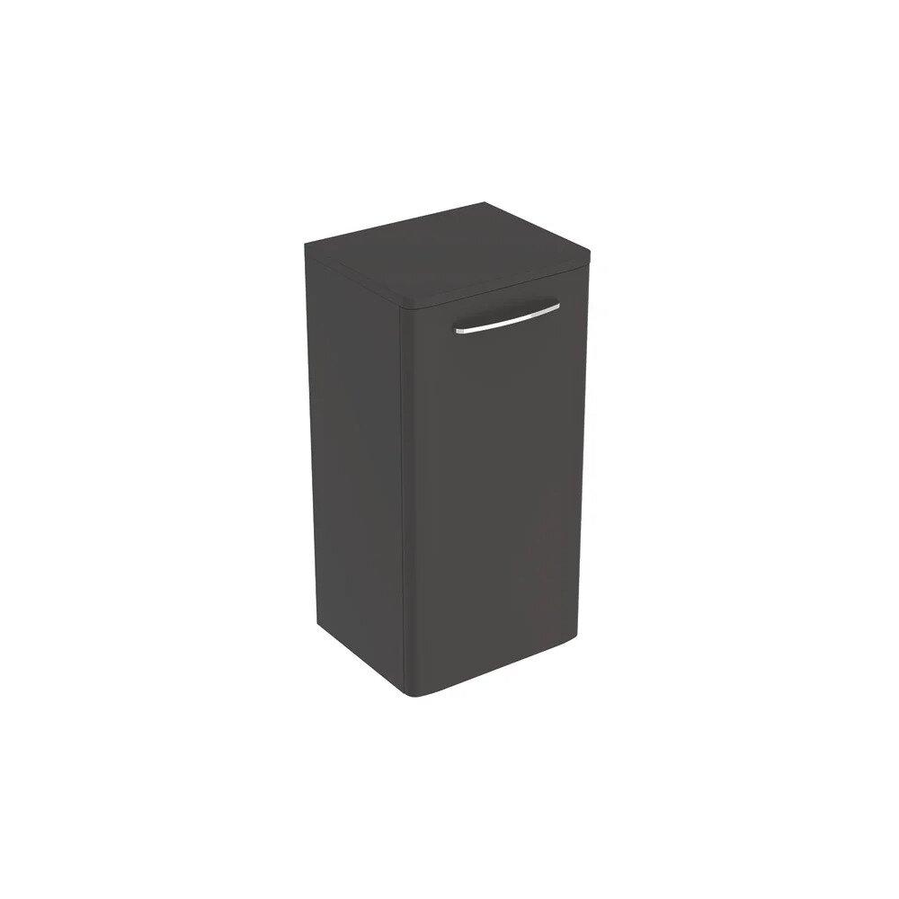 Dulap baie suspendat negru Geberit Selnova Square 1 usa 33 cm imagine