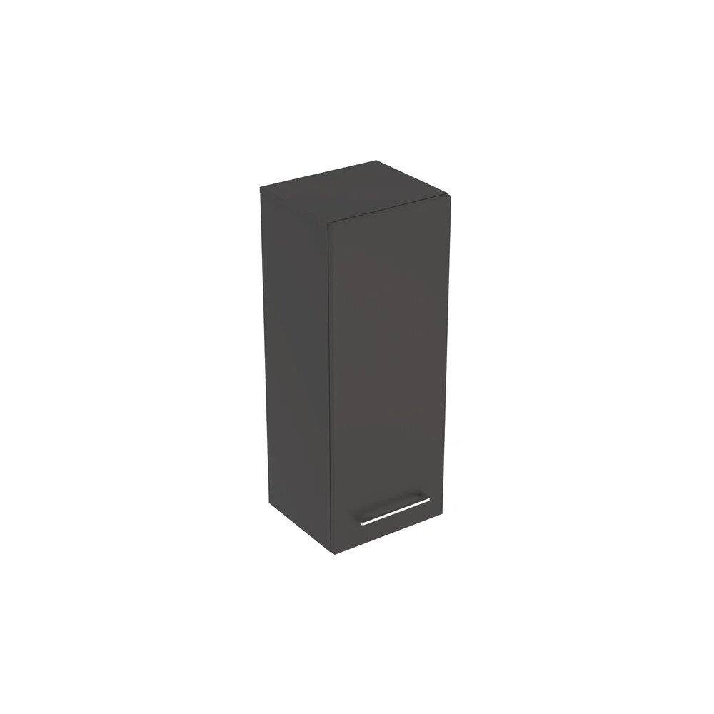 Dulap baie suspendat negru Geberit Selnova Square 1 usa 85 cm neakaisa.ro