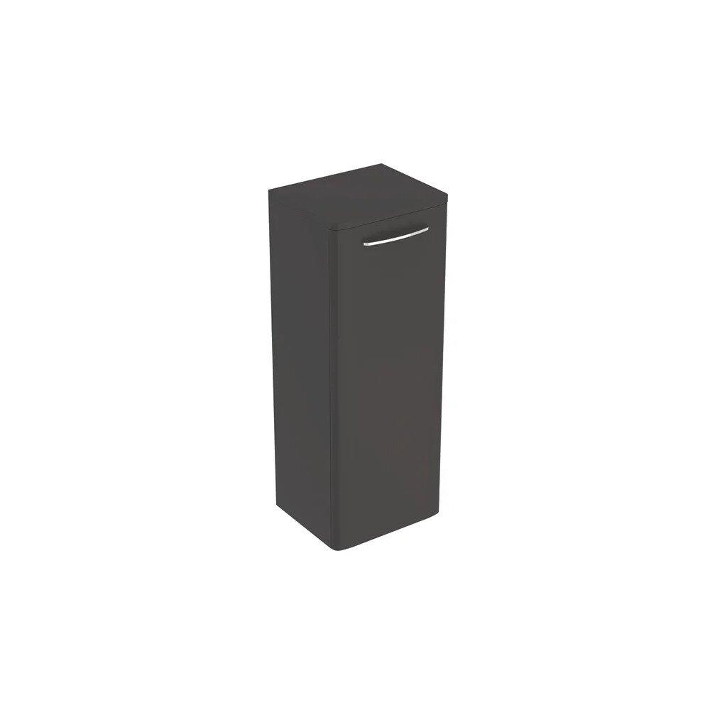Dulap baie suspendat negru Geberit Selnova Square 1 usa 87 cm