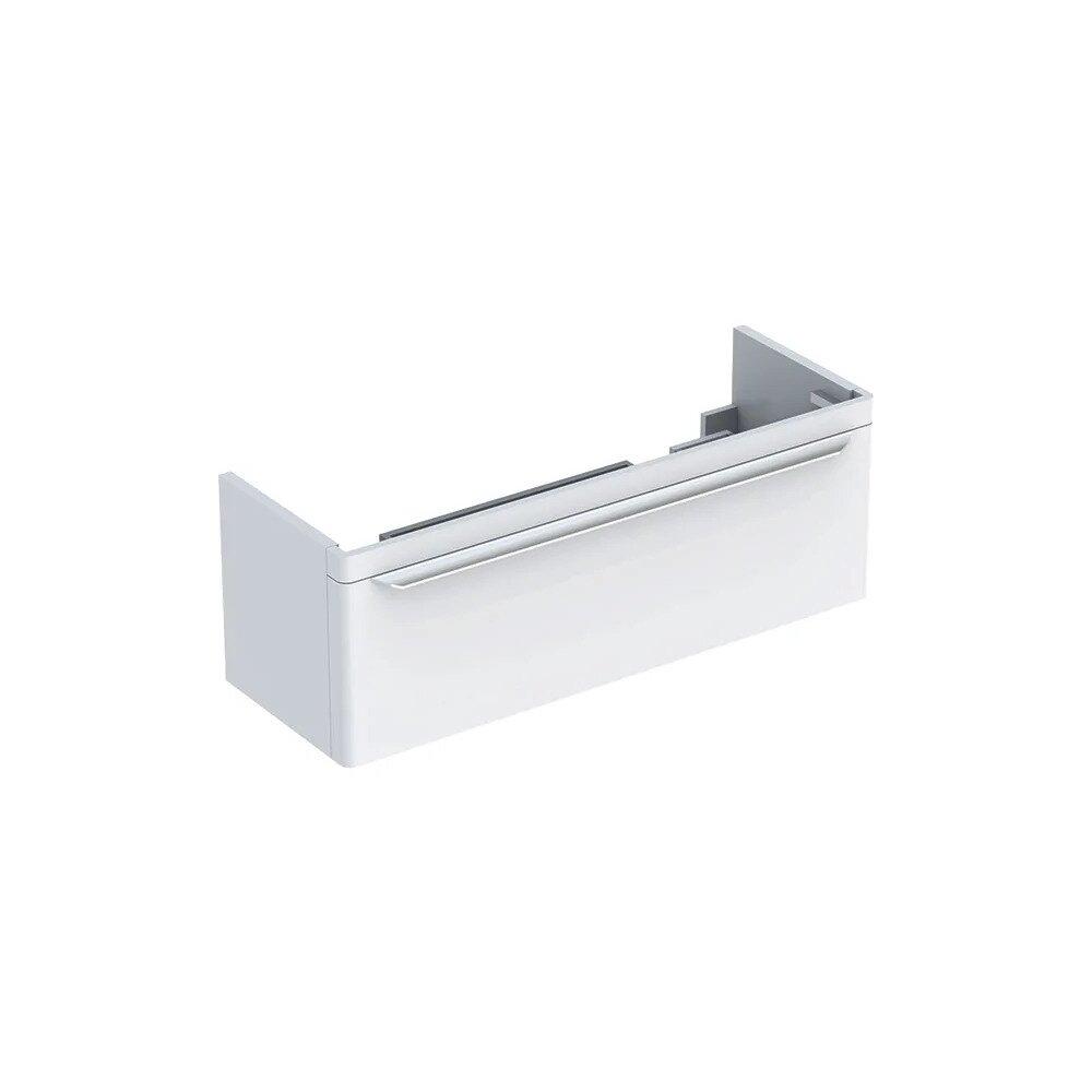Dulap baza pentru lavoar dublu suspendat alb Geberit Myday 1 sertar 116 cm imagine
