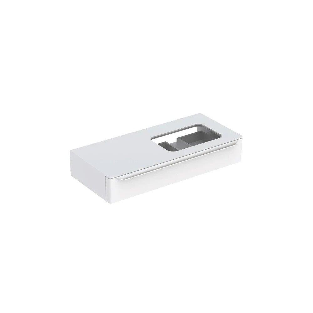 Dulap baza pentru lavoar incorporat suspendat alb Geberit Myday 1 sertar 115 cm imagine