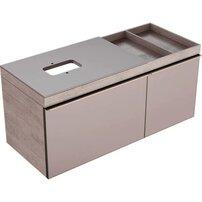 Dulap baza pentru lavoar pe blat bej Geberit Citterio 2 sertare dreapta 119 cm
