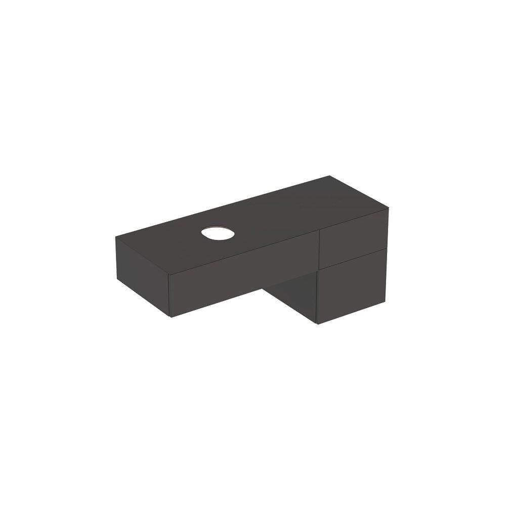 Dulap baza pentru lavoar pe blat Geberit Variform negru 3 sertare 135 cm neakaisa.ro