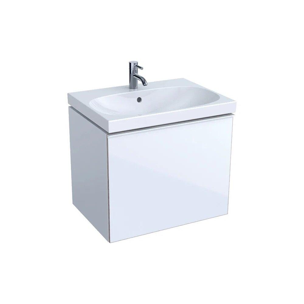 Dulap baza pentru lavoar suspendat alb Geberit Acanto 1 sertar 64 cm imagine