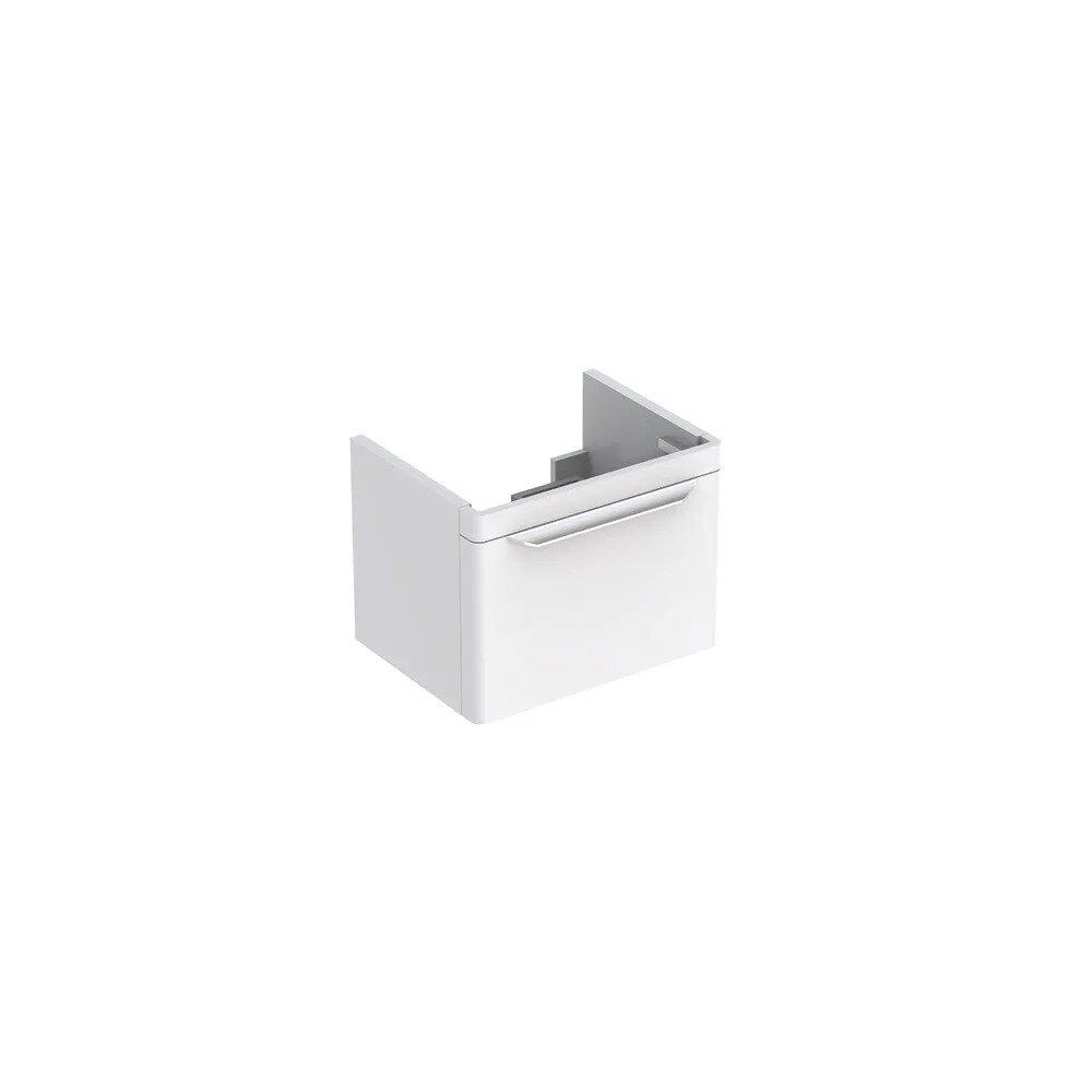 Dulap baza pentru lavoar suspendat alb Geberit Myday 1 sertar 54 cm