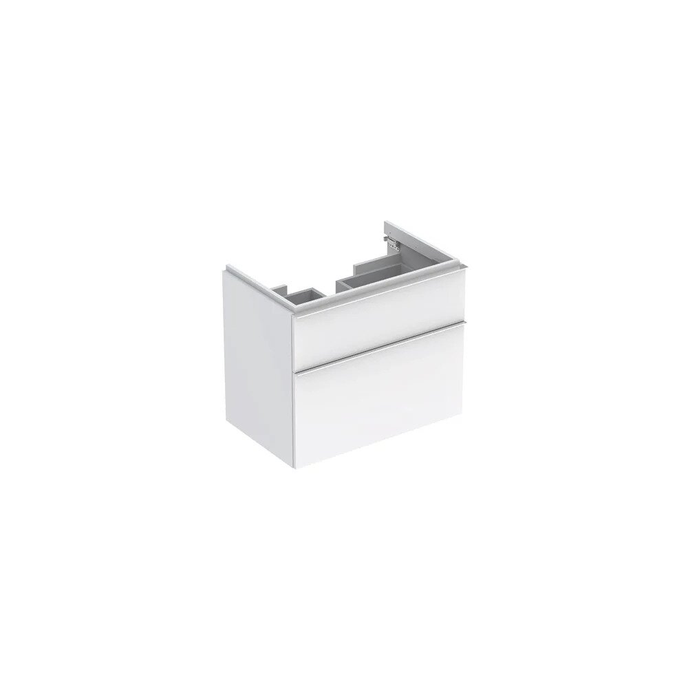Dulap baza pentru lavoar suspendat alb lucios Geberit Icon 2 sertare 74 cm neakaisa.ro
