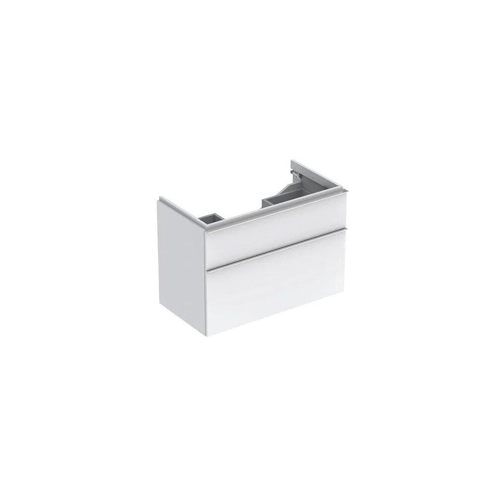 Dulap baza pentru lavoar suspendat alb lucios Geberit Icon 2 sertare 89 cm imagine