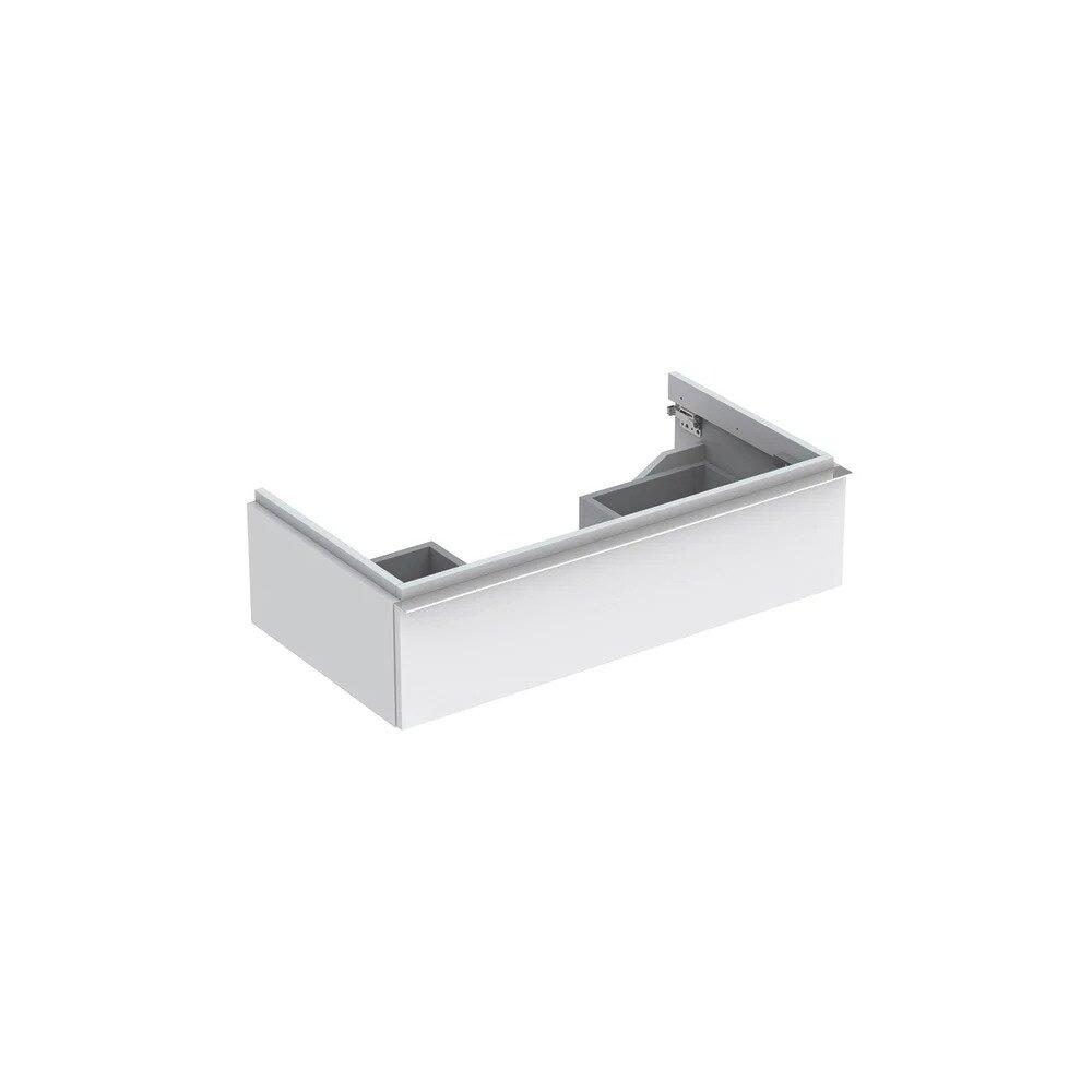 Dulap baza pentru lavoar suspendat alb mat Geberit Icon 1 sertar 90 cm imagine