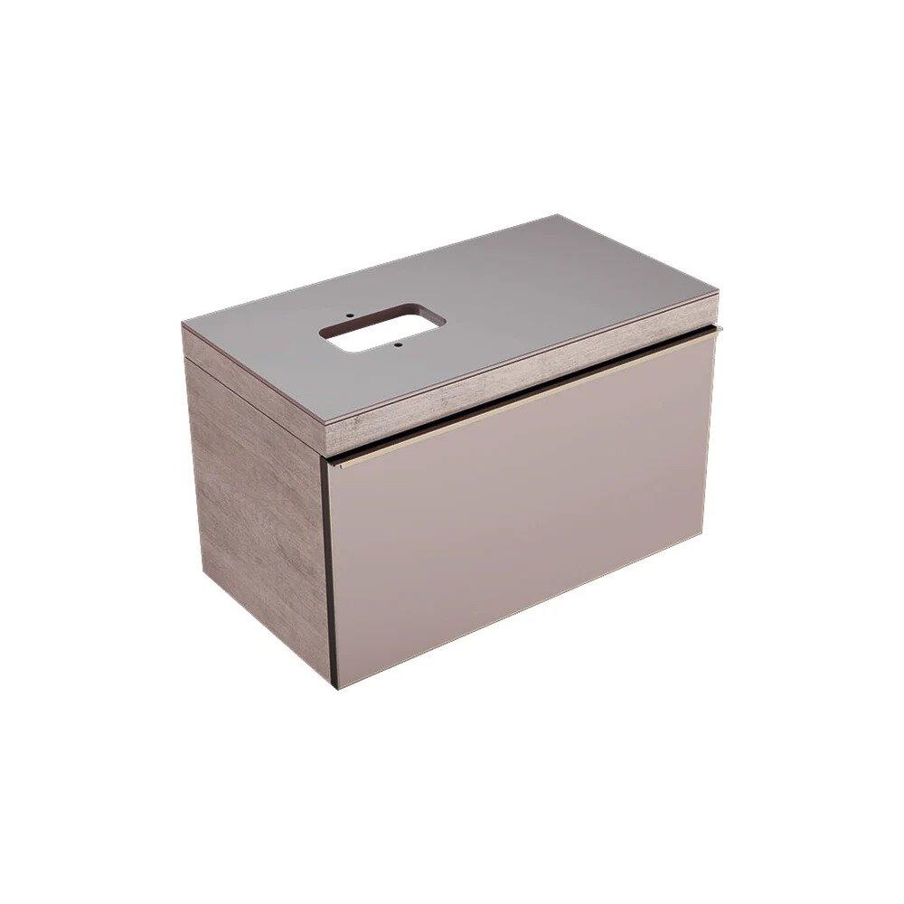 Dulap baza pentru lavoar suspendat bej Geberit Citterio 1 sertar stanga sau dreapta 89 cm imagine neakaisa.ro