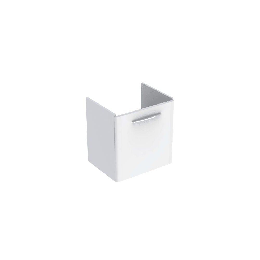 Dulap baza pentru lavoar suspendat Geberit Selnova Square alb 1 usa 65 cm imagine
