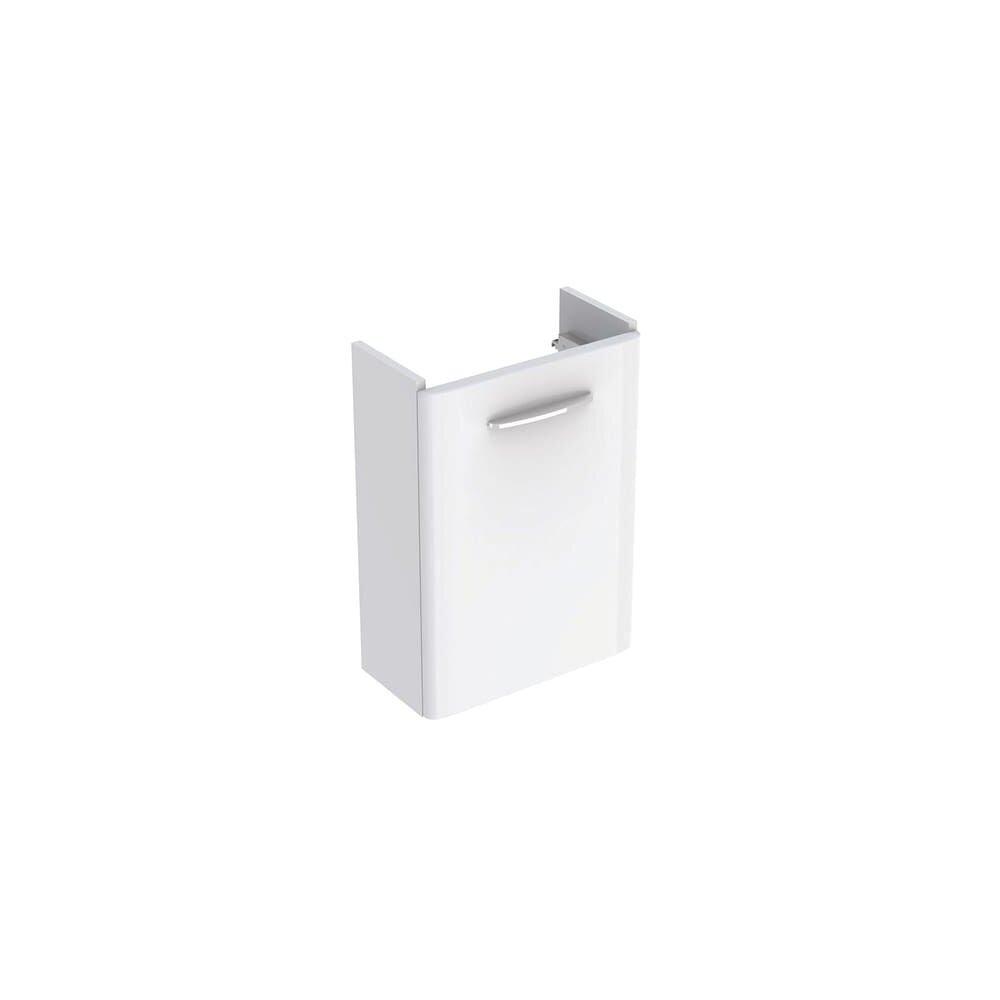 Dulap baza pentru lavoar suspendat Geberit Selnova Square alb 1 usa proiectie mica 45 cm imagine