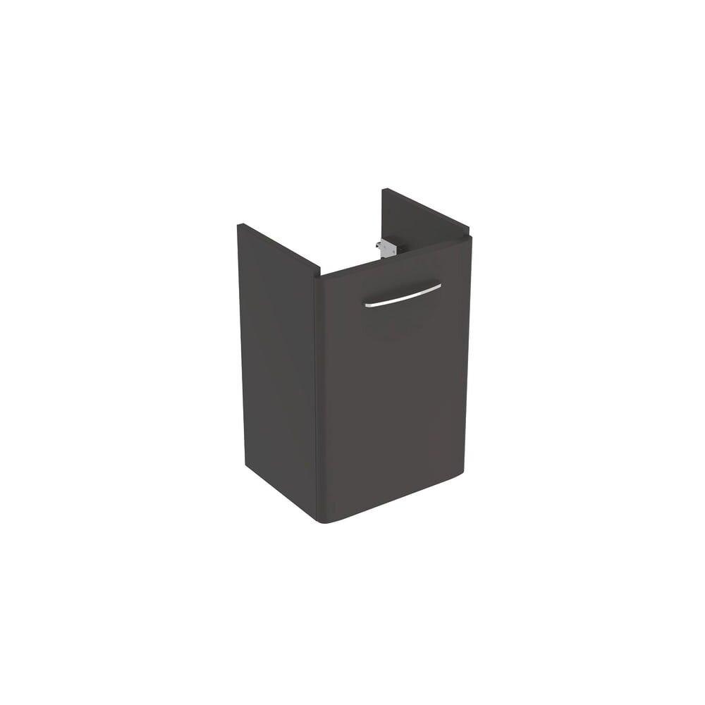Dulap baza pentru lavoar suspendat Geberit Selnova Square negru 1 usa 45 cm imagine