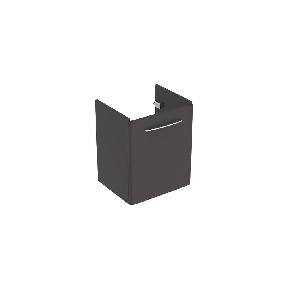 Dulap baza pentru lavoar suspendat Geberit Selnova Square negru 1 usa 55 cm imagine