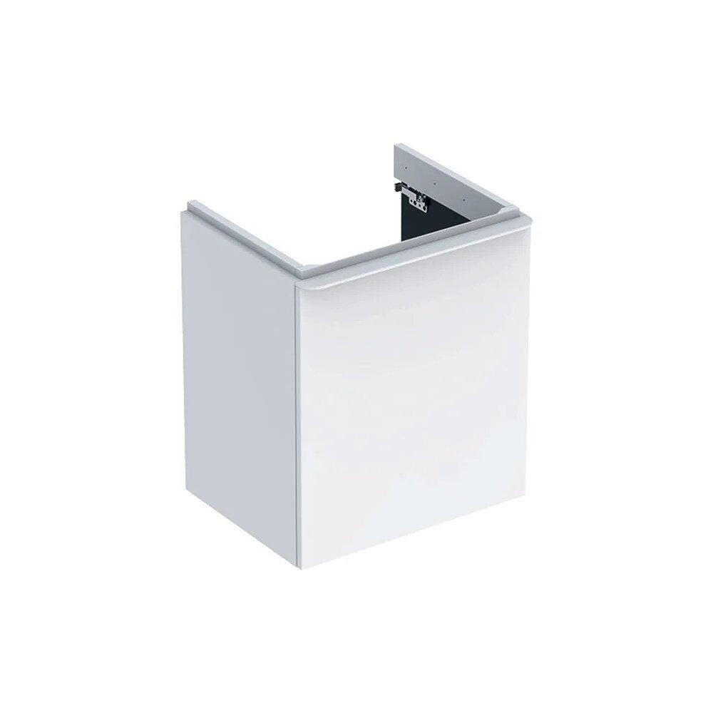Dulap baza pentru lavoar suspendat Geberit Smyle Square alb 1 usa opritor dreapta 54 cm poza