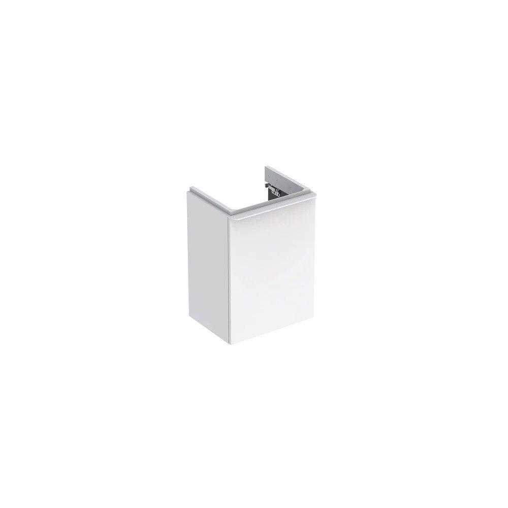 Dulap baza pentru lavoar suspendat Geberit Smyle Square alb 1 usa opritor stanga 45 cm imagine