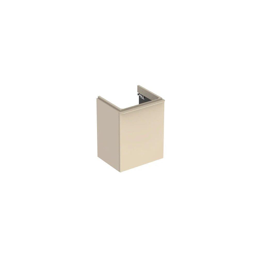 Dulap baza pentru lavoar suspendat Geberit Smyle Square gri nisip 1 usa opritor stanga 50 cm imagine