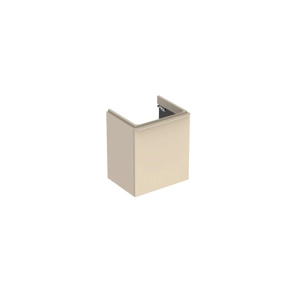 Dulap baza pentru lavoar suspendat Geberit Smyle Square gri nisip 1 usa opritor stanga 54 cm imagine