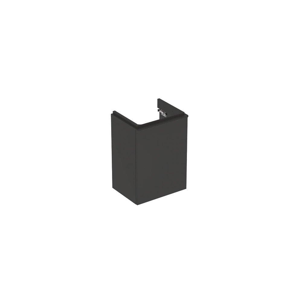 Dulap baza pentru lavoar suspendat Geberit Smyle Square negru 1 usa opritor stanga 45 cm neakaisa.ro
