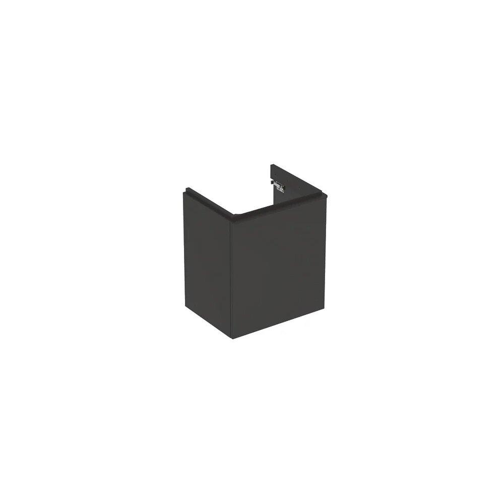 Dulap baza pentru lavoar suspendat Geberit Smyle Square negru 1 usa opritor stanga 54 cm imagine