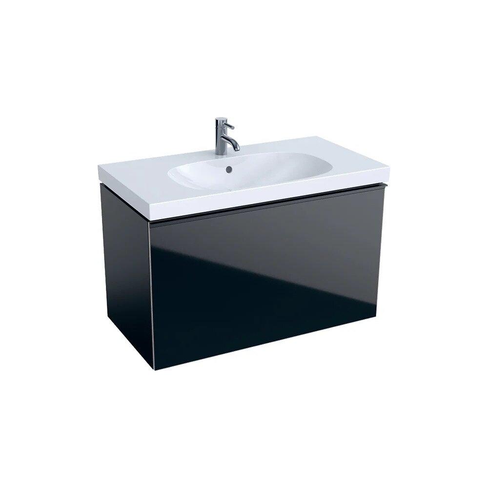 Dulap baza pentru lavoar suspendat negru Geberit Acanto 1 sertar 89 cm neakaisa.ro
