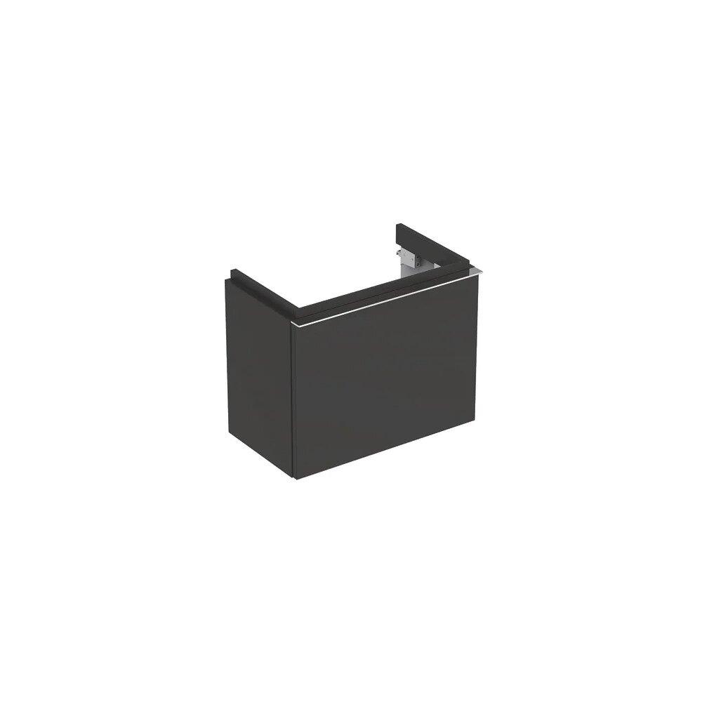 Dulap baza pentru lavoar suspendat negru Geberit Icon 1 sertar 52 cm imagine