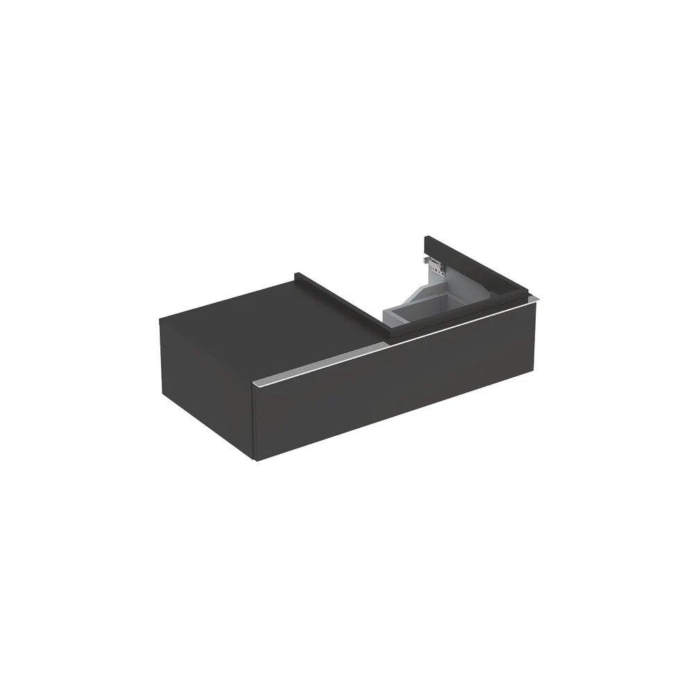 Dulap baza pentru lavoar suspendat negru Geberit Icon 1 sertar si 1 blat dreapta 89 cm imagine neakaisa.ro