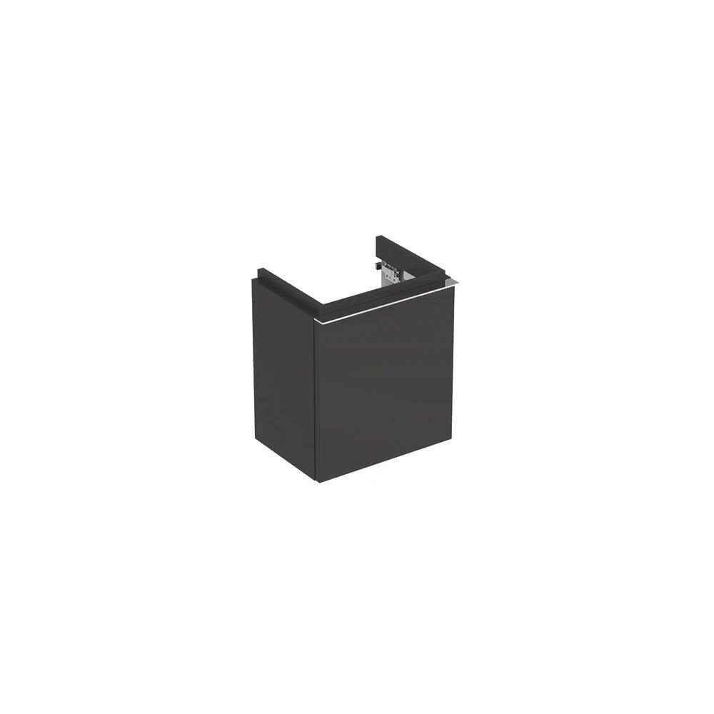 Dulap baza pentru lavoar suspendat negru Geberit Icon 1 usa opritor stanga 37 cm imagine