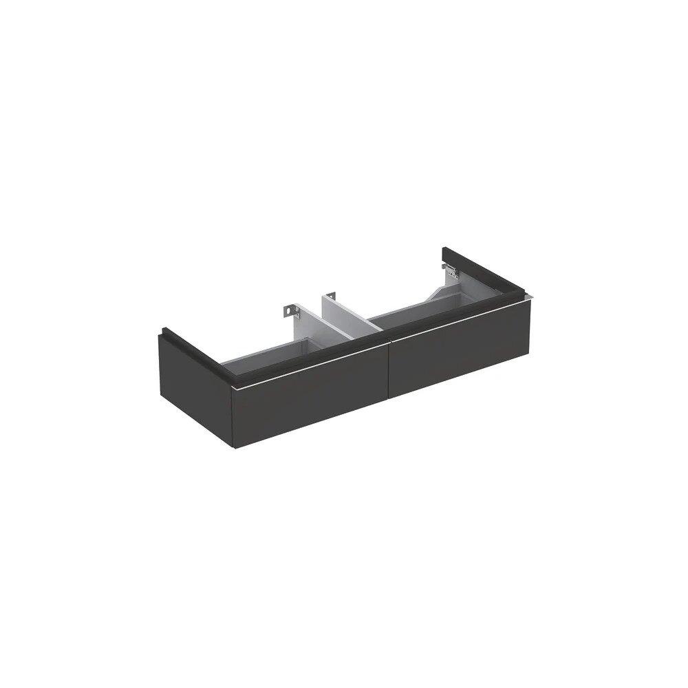 Dulap baza pentru lavoar suspendat negru Geberit Icon 2 sertare 119 cm imagine