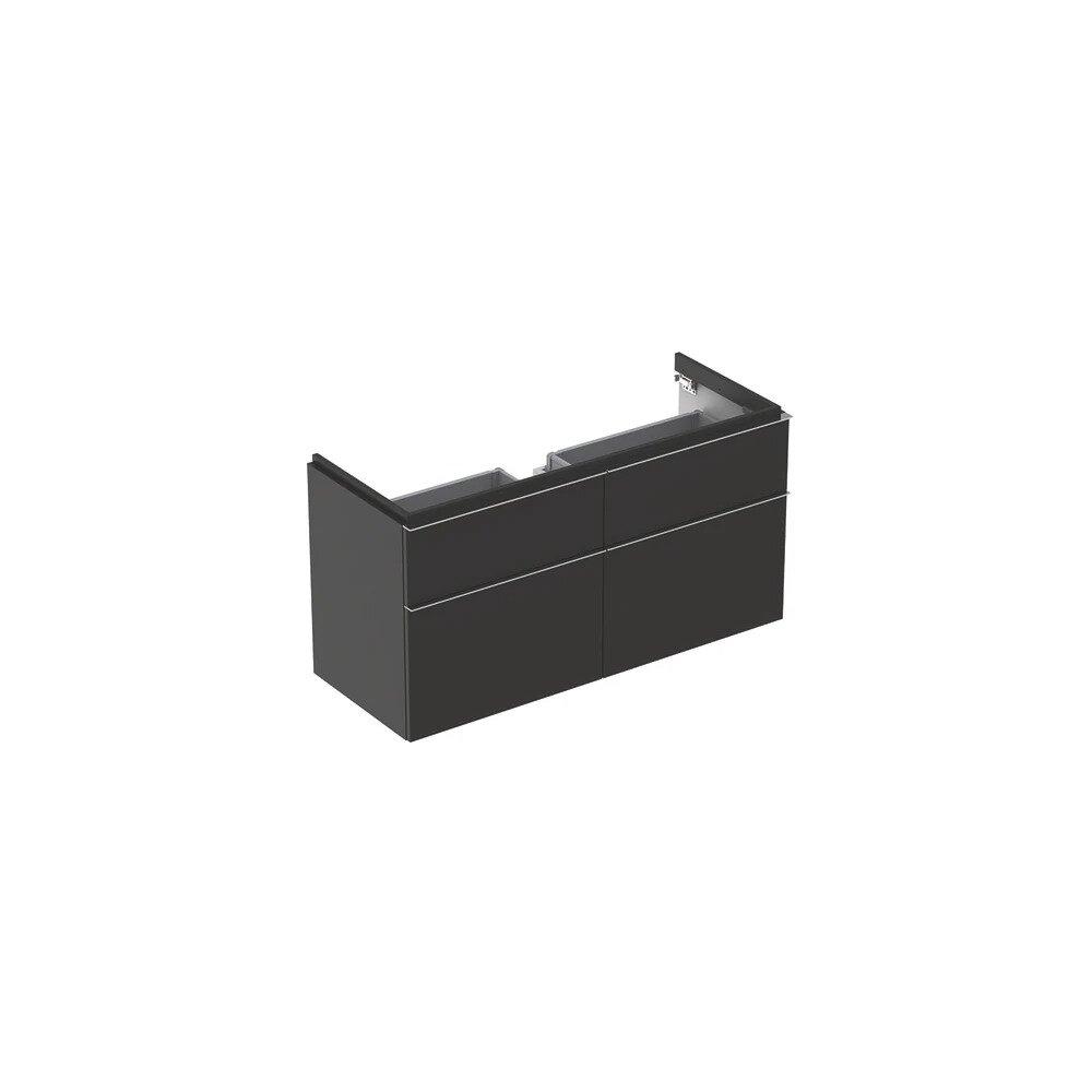 Dulap baza pentru lavoar suspendat negru Geberit Icon 4 sertare 119 cm poza