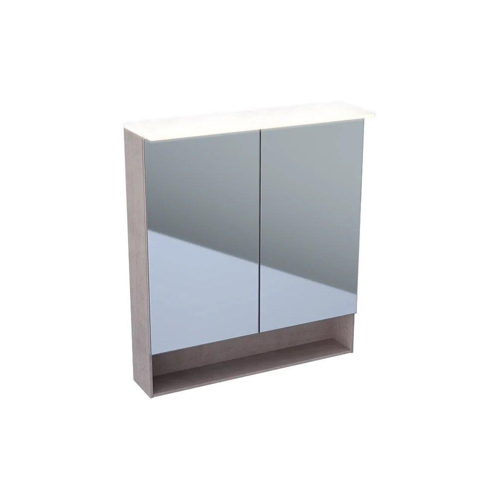 Dulap cu oglinda suspendat cu iluminare LED Geberit Acanto 2 usi 75 cm neakaisa.ro