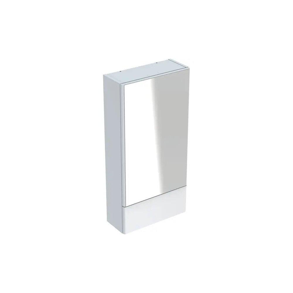 Dulap cu oglinda suspendat Geberit Selnova Square alb 1 usa simpla 1 usa rabatabila 42 cm neakaisa.ro