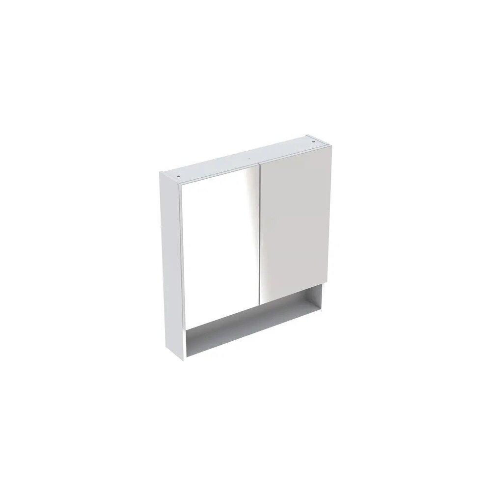 Dulap cu oglinda suspendat Geberit Selnova Square alb 2 usi 59 cm