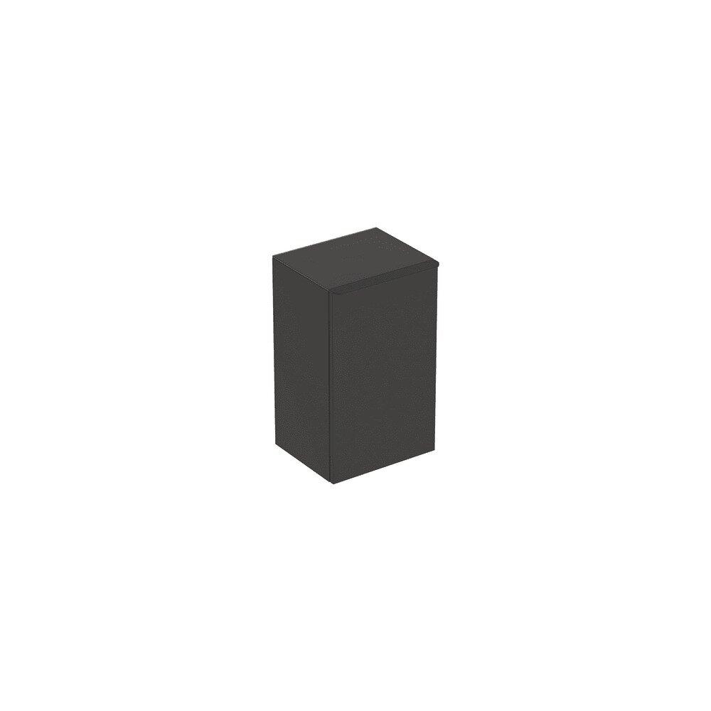 Dulap mediu suspendat Geberit Smyle Square negru 1 usa opritor stanga 36 cm imagine neakaisa.ro