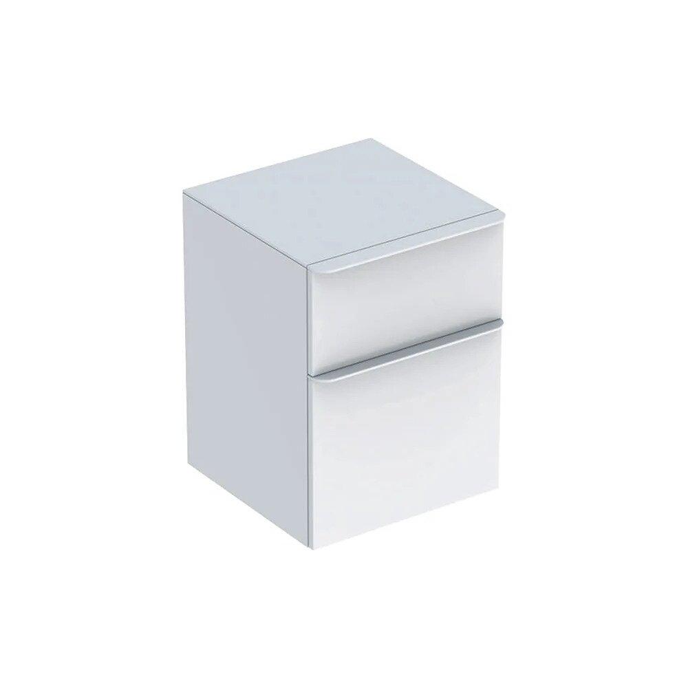 Dulap mediu suspendat Geberit Smyle Square alb 2 sertare 45 cm imagine neakaisa.ro
