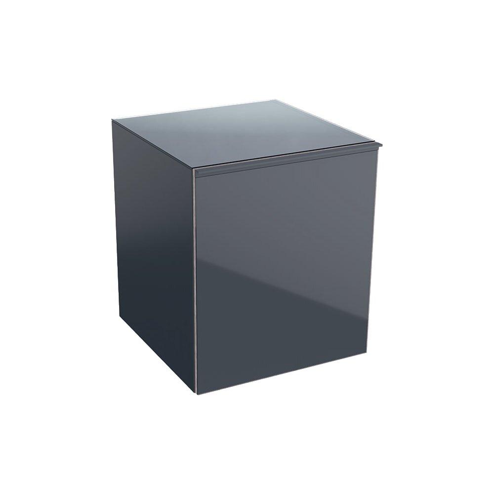 Dulap mediu suspendat negru Geberit Acanto 1 sertar 45 cm imagine neakaisa.ro