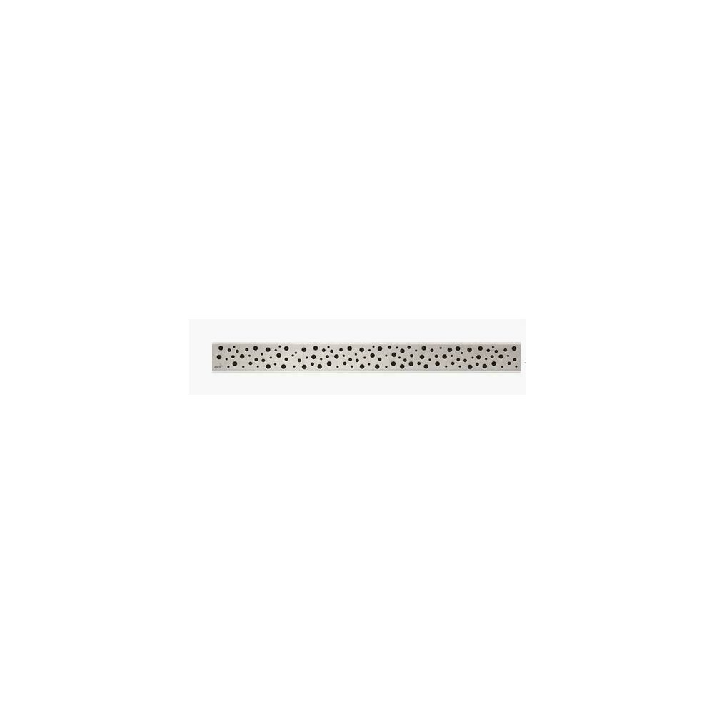 Capac pentru rigola de dus Alcaplast BUBLE 550L 55 cm otel mat