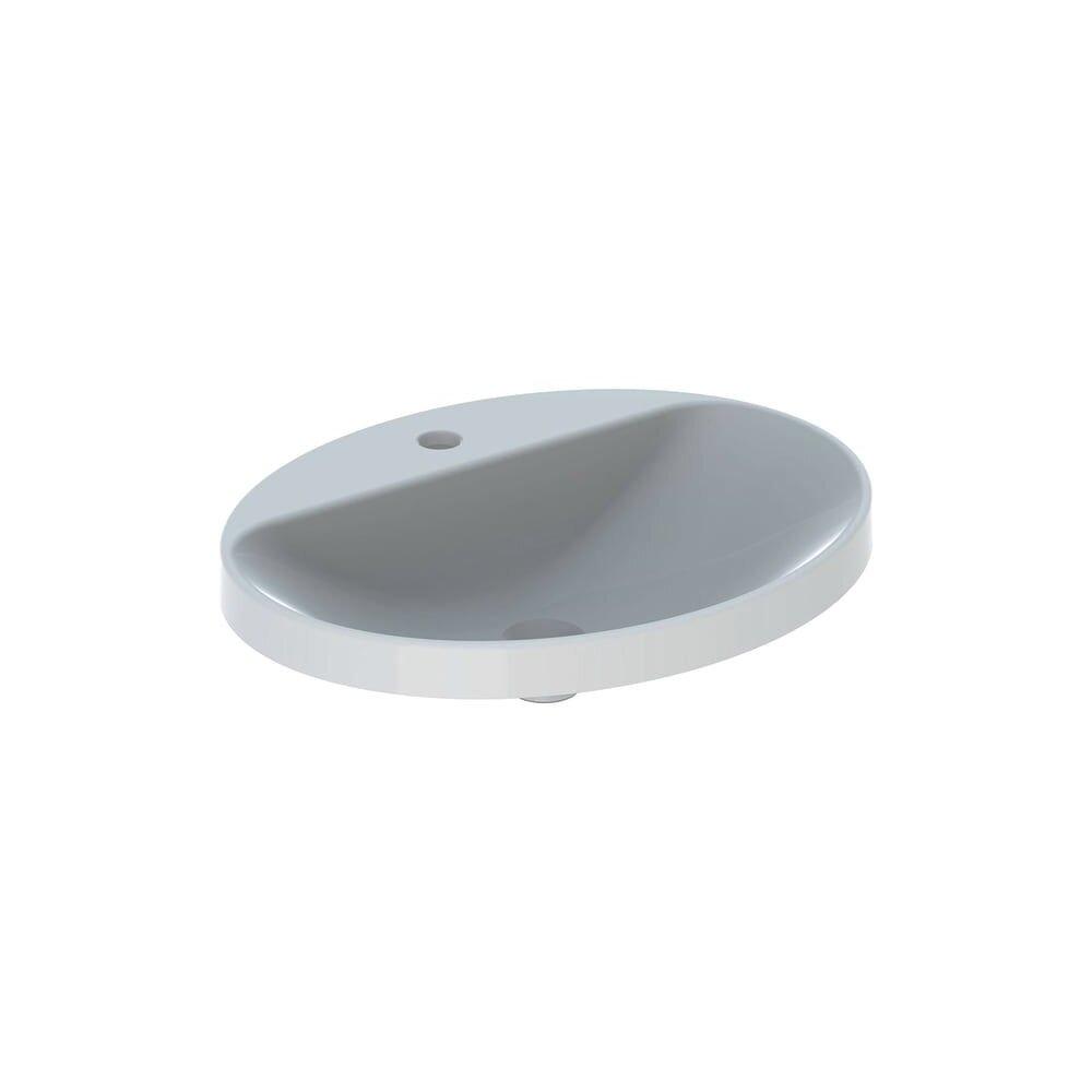 Lavoar incastrat Geberit Variform 60 cm cu orificiu baterie fara orificiu preaplin imagine