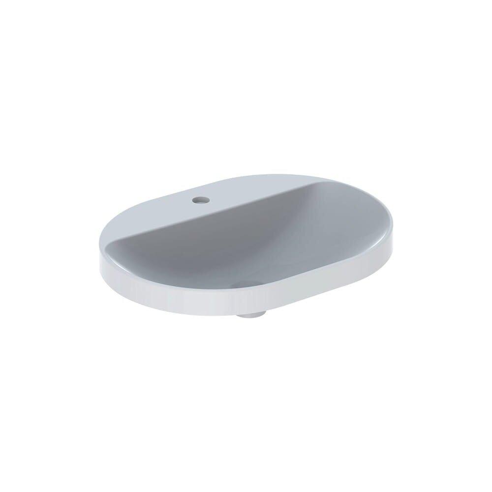 Lavoar incastrat Geberit Variform 60 cm cu orificiu baterie fara orificiu preaplin eliptic imagine