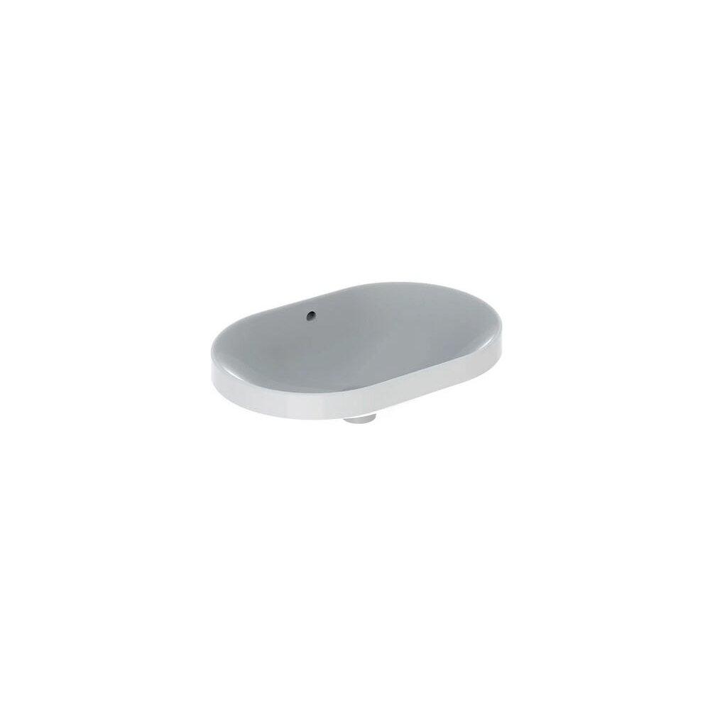 Lavoar incastrat Geberit Variform eliptic cu preaplin 60x40 cm imagine neakaisa.ro