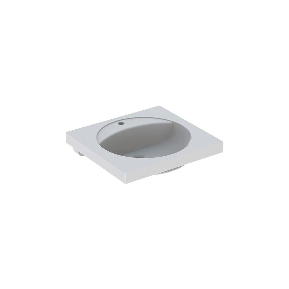 Lavoar pe blat Geberit Preciosa 60 cm cu orificiu baterie fara orificiu preaplin poza