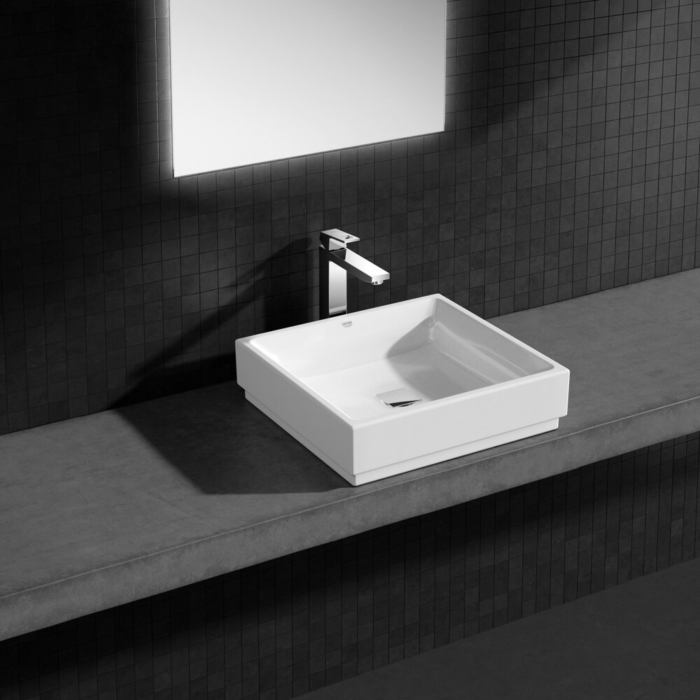 Lavoar pe blat Grohe Cube Ceramic 50 cm imagine