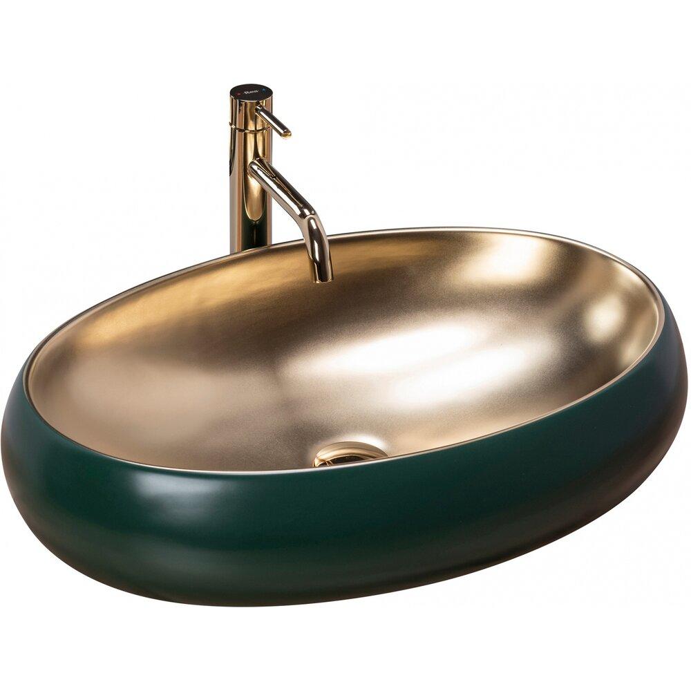 Lavoar pe blat Rea Melania Green 60 cm verde auriu poza