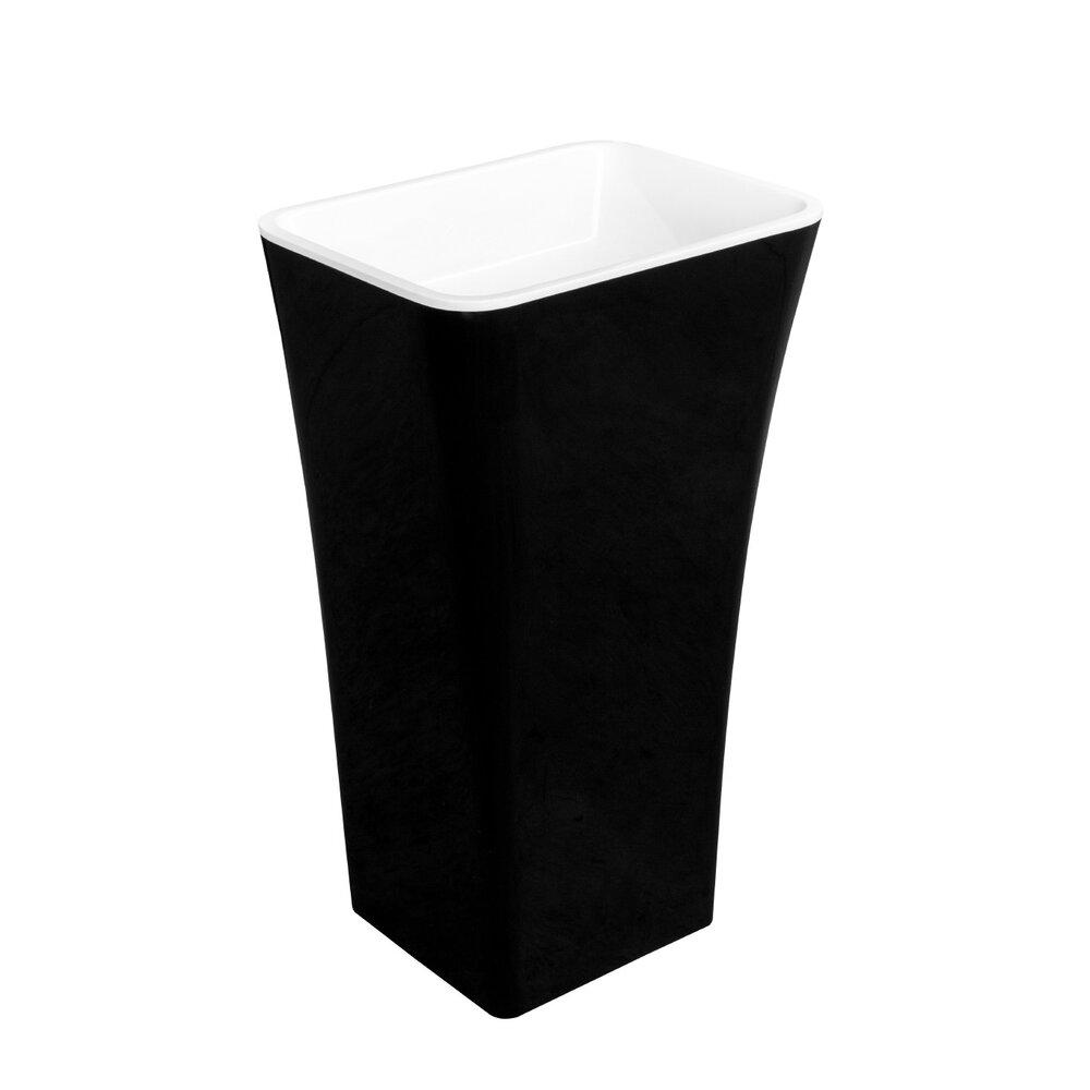 Lavoar pe pardoseala Besco Assos negru cu alb 50x40 cm imagine neakaisa.ro