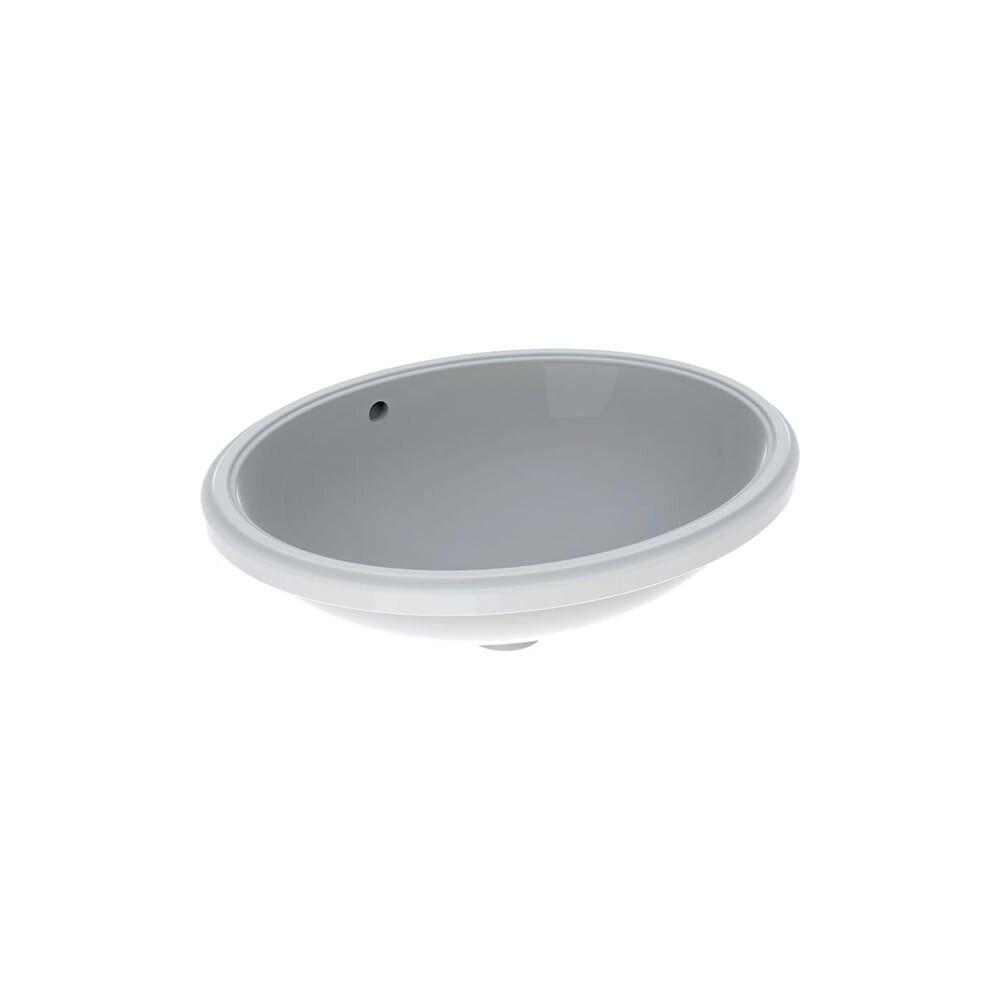Lavoar sub blat Geberit Variform 56 cm fara orificiu baterie cu orificiu preaplin imagine
