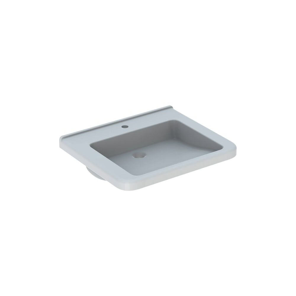 Lavoar suspendat Geberit Selnova Comfort Square 65 cm cu orificiu baterie cu orificiu preaplin poza