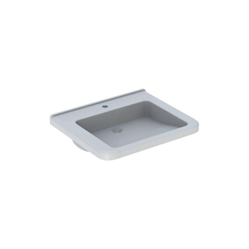 Lavoar suspendat Geberit Selnova Comfort Square 65 cm cu orificiu baterie fara orificiu preaplin poza