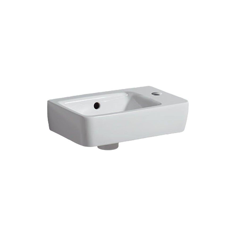 Lavoar suspendat Geberit Selnova Compact 40 cm proiectie mica cu orificiu baterie dreapta