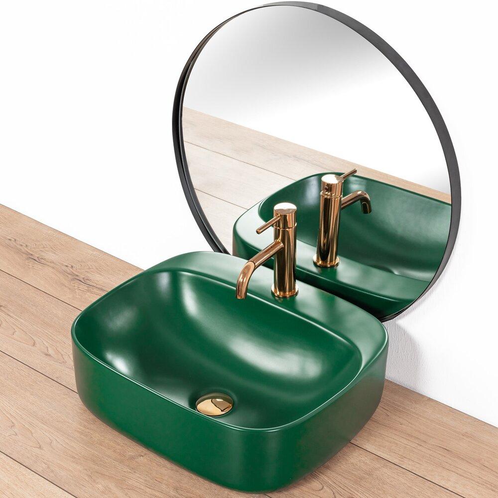 Lavoar verde mat pe blat Rea Luiza 50 cm imagine